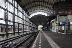 Den berömda Haarlem drevstationen med dess eleganta Art Nouveau ar royaltyfria bilder