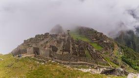 Den berömda incaen fördärvar av machupicchu i Peru Arkivbilder
