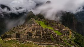 Den berömda incaen fördärvar av machupicchu i Peru Royaltyfria Bilder