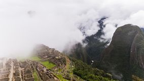 Den berömda incaen fördärvar av machupicchu i Peru Fotografering för Bildbyråer