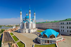 Den berömda moskén i Ryssland - Qol Sharif i den Kazan staden Royaltyfri Fotografi