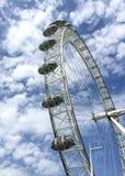 Den berömda pariserhjulen, London öga, London, UK Fotografering för Bildbyråer