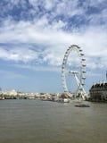 Den berömda pariserhjulen, London öga, London, UK Royaltyfri Foto