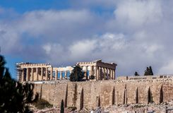 Den berömda parthenonen av akropolen, Aten, Grekland fotografering för bildbyråer