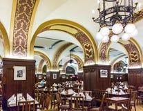 Den berömda restaurangen på Auerbachs Keller, Leipzig, Sachsen, tysk Royaltyfri Foto