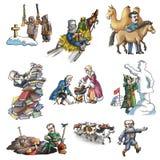 Den berömda ryska utforskaren vektor illustrationer