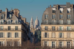 Den berömda Sacre-Coeur basilikan Paris, Frankrike Royaltyfri Foto