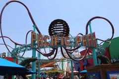 Den berömda Santa Monica Pier i Kalifornien USA Arkivbilder