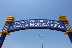 Den berömda Santa Monica Pier i Kalifornien USA Arkivfoton