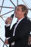 Den berömda skådespelaren Mikhail Morozov - blytak och föreställer den Kronstadt festivaloperan Royaltyfria Foton