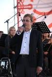 Den berömda skådespelaren Mikhail Morozov - blytak och föreställer den Kronstadt festivaloperan Arkivbild