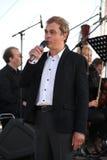Den berömda skådespelaren Mikhail Morozov - blytak och föreställer den Kronstadt festivaloperan Royaltyfri Fotografi