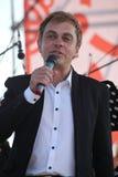Den berömda skådespelaren Mikhail Morozov och mått av Kronstadt Terenty Mescheryakov - blytak och föreställer den Kronstadt festi Royaltyfria Bilder