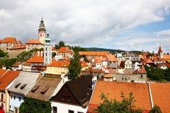 Den berömda townen Cesky Krumlov Royaltyfria Foton