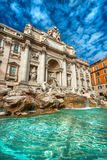 Den berömda Trevi-springbrunnen, rome, Italien. Arkivbild