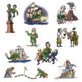 Den berömda utforskaren i arktisk stock illustrationer