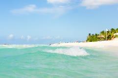 Den berömda Varadero stranden i Kuba Arkivbilder