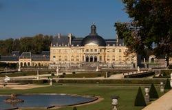 Den berömda Vaux-le-Vicomte slotten, Frankrike Fotografering för Bildbyråer