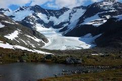 In den Bergen von Norwegen Lizenzfreie Stockbilder