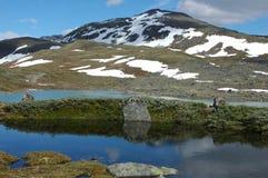 In den Bergen von Norwegen Lizenzfreie Stockfotos