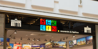Den Berlin souvenir shoppar Royaltyfri Foto