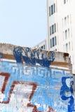 Den Berlin väggen fördärvar i Potsdam kvadrerar Arkivfoton