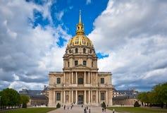 Den berömda hotelldesen Invalides, Paris Royaltyfria Bilder