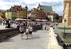 Den bevarade gamla staden i Warszawa, Polen, en UNESCOvärldsarv Royaltyfria Bilder