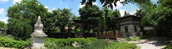 Den Bhutan trädgården på kungliga personen parkerar rajapruek Arkivbild