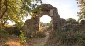 Den Bigali fästningen grundades som en artilleristolpe, som var att skydda den Dardanelles kanalen från hotet av britten N Fotografering för Bildbyråer