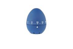 Den blåa äggklockan för kokta ägg 10 noterar nedräkning Arkivfoto