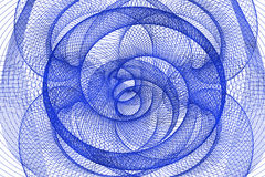 Den blåa abstrakta tunnelen Arkivbilder