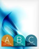 Den blåa aquavågen planlade affärsaffischen stock illustrationer