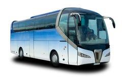 den blåa bussen turnerar Royaltyfria Bilder