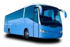 den blåa bussen turnerar royaltyfria foton