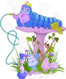 Den blåa Caterpillar Arkivbild