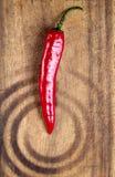 den blåa chilin flamm varm over pepparred Arkivfoto
