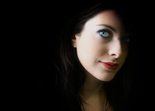 den blåa clearen eyes kvinnabarn Royaltyfri Bild