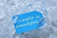 Den blåa etiketten på is med enkelt är härlig Royaltyfria Bilder