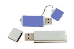 den blåa exponeringen isolerade minneswhite Fotografering för Bildbyråer