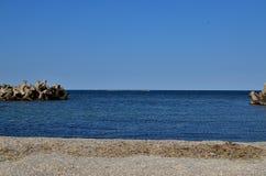 Den blåa färgen av havet Royaltyfria Foton