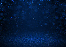 Den blåa gnistrandet blänker abstrakt bakgrund Fotografering för Bildbyråer