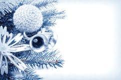 den blåa julen inramniner magi Royaltyfri Foto