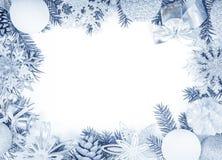 den blåa julen inramniner magi Fotografering för Bildbyråer