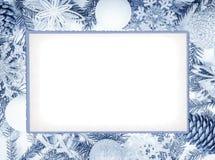 den blåa julen inramniner magi Royaltyfria Foton