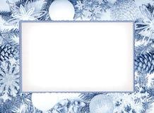 den blåa julen inramniner magi Arkivbilder