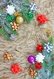 den blåa julen inramniner magi Arkivbild