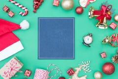 den blåa julen inramniner magi Arkivfoto
