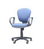Den blåa kontorsstolen isolerat Fotografering för Bildbyråer