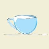 Den blåa koppen av mjölkar Royaltyfria Bilder